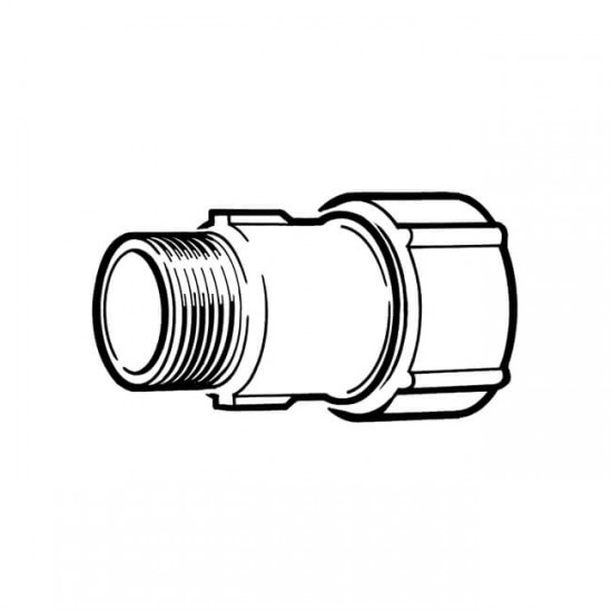 Primofit Adaptor Gas 1 BSP M x 32mm MDPE Galvanised