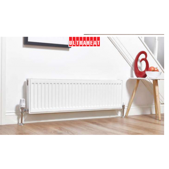 2DS2000 ULTRAHEAT compact4 radiator 200mm High 2000mm Wide Double Panel Double Convector